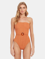 Hunza G Honor Belted One-Piece Swimsuit