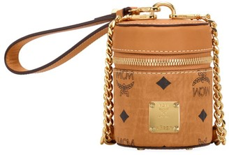 MCM Cylinder Visetos Crossbody Bag