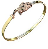 Effy Jewelry Signature 2-Tone Gold Diamond & Emerald Bangle, .67 TCW