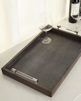 Jamie Young Dark Gray Shagreen Tray