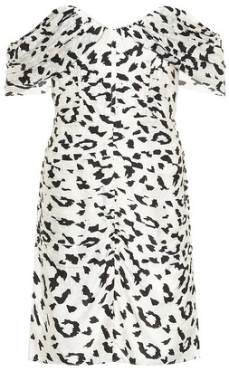 Self-Portrait Leopard-print jacquard minidress
