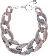 Diana Broussard Grey Marbled Plexiglass Nate Chain Necklace