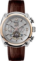 Ingersoll Michigan Automatic brown leather watch