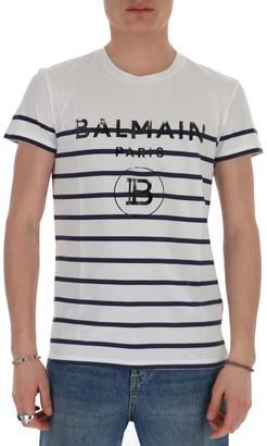 Balmain Logo Striped T-Shirt