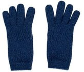 Loro Piana Blue Cashmere Gloves