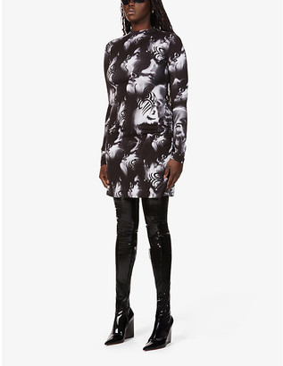 Misbhv Manga abstract-print stretch-jersey mini dress