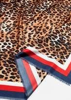 MANGO Leopard print scarf