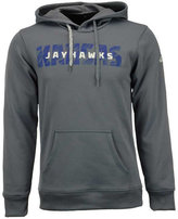 adidas Men's Kansas Jayhawks Sideline Stitched Shock Hoodie