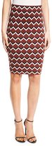 Trina Turk Geometric High-Waist Pencil Skirt, Multicolor
