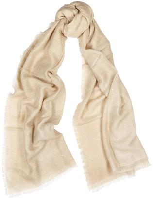Ama Pure Sand embellished cashmere scarf