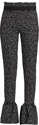Sacai Bell-Flare Summer Tweed Trousers