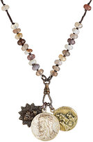 Miracle Icons Men's Beaded Pendant Necklace-BROWN