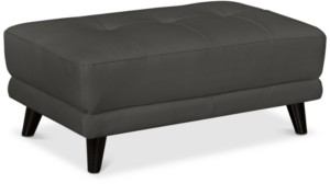 Furniture Lanz Leather Ottoman, Created for Macy's