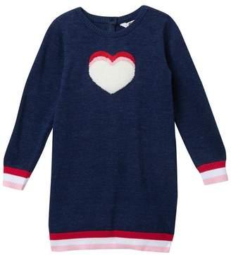 Petit Lem Long Sleeve Knit Dress (Toddler, Little Girls, & Big Girls)