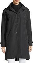 Jane Post 3-in-1 Button-Front Rain Coat w/ Wool Interlock