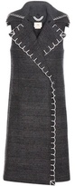 Edun Check Wool-blend Sleeveless Coat