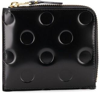 Comme des Garcons Embossed Polka-Dot Wallet