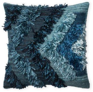 Loloi Indigo Shag Decorative Pillow