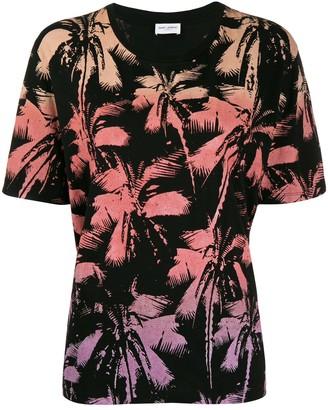Saint Laurent palm tree printed T-shirt