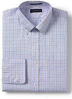 Classic Men's Tall No Iron Tailored Fit Pattern Royal Oxford Buttondown Shirt-Calm Gray Glen Plaid