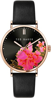 Ted Baker Phylipa Lemongrass Leather Strap Watch, 37mm