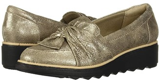 Clarks Sharon Dasher (Pewter Suede) Women's Shoes