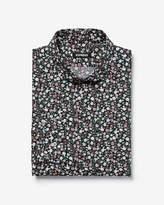 Express Slim Floral Print Cotton Dress Shirt