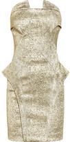 Faith Connexion Strapless metallic brocade dress