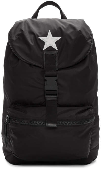 Givenchy Black Nylon Star Obsedia Backpack