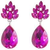 Quiz Fuchsia Sparkle Diamante Earrings