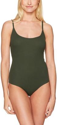 Mae Amazon Brand Women's Ribbed Scoop-Neck Bodysuit