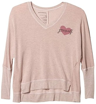 good hYOUman Carrie Heart Yourself Pullover (Rosewater) Women's Clothing