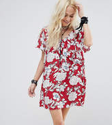 Reclaimed Vintage Mini Dress With Ruffle In Floral