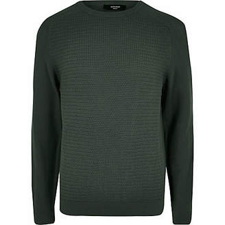 Jack and Jones green knitted jumper