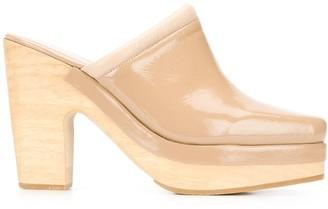 Rachel Comey 105mm Patent Block Heel Mules