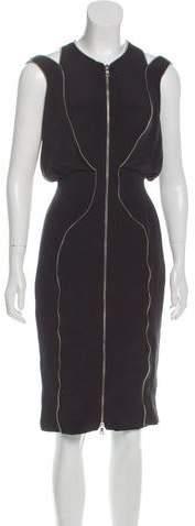 Cushnie et Ochs Zipper-Accented Sleeveless Dress
