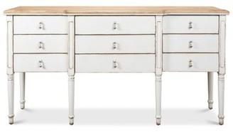 "Sarreid Ltd. French 67"" Wide 9 Drawer Pine Wood Sideboard"