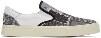 Amiri Grey Bandana Reconstruction Slip-On Sneakers