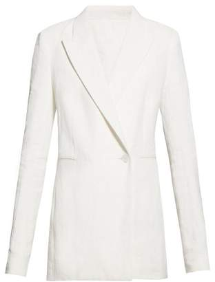 The Row Ciel Single-breasted Linen-blend Blazer - Womens - White