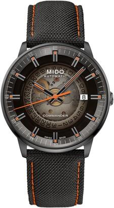 MIDO Commander Gradient Skeletal Automatic Canvas Strap Watch, 40mm