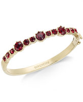 Givenchy Gold-Tone Red Crystal Bangle Bracelet