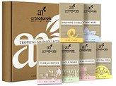 Art Naturals 6 Piece Soap Bar Set 4.0oz Each | 100% Natural & Infused with Jojoba Oil - Best for all Skin Types, Body & Face, Men & Women (Tea tree, Lavender, Eucalyptus, Lemon, Grapefruit & Orange)