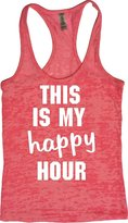 Orange Arrow Workout Tanks For Womens (M, ) - This Is My Happy Hour - Yoga Tank Top