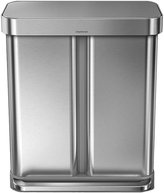 Simplehuman Dual Compartment Step Can with Liner Pocket - Stainless Steel - 58 litre
