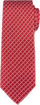 Neiman Marcus Grid-Print Silk Tie