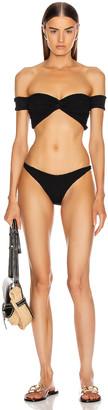 Hunza G Brigette Bikini in Black   FWRD