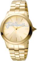 Just Cavalli 36mm Logo Watch w/ Bracelet, Golden