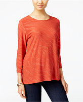 JM Collection Embellished Jacquard Top, Only at Macy's