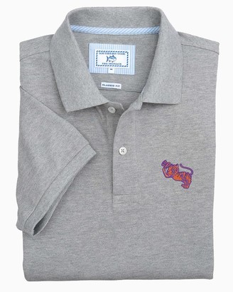 Southern Tide Retro Clemson Tigers Grey Cotton Polo Shirt