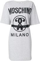 Moschino belted T-shirt dress - women - Cotton/Spandex/Elastane - 38